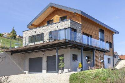 Maison bois et pierre, Arçon (2020)