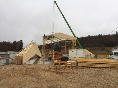 Bâtiment agricole à Septmoncel (2018), Septmoncel (Haut-Jura)