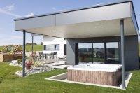 Maison bois finition crépis , Fournets-Luisans (2016)