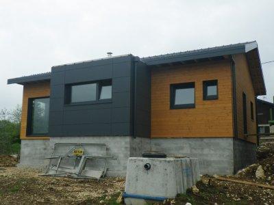 Maison bois de plain-pied , Arc-sous-Cicon (2016)